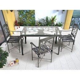 Mesa de jardín Mairena - mesas de forja