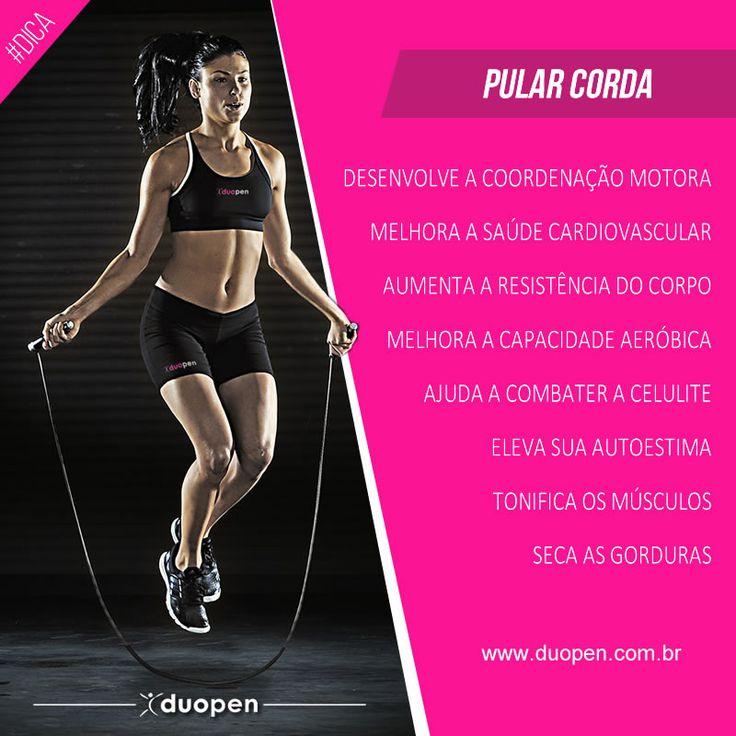 Duopen modas, motivação fitness. Benefícios de pular corda! #motivação #motivacao #fitness #fitnesmotivation #dedicacao #força #foco