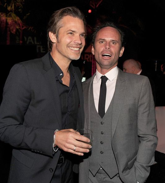 It's two for the price of one again - Timothy Olyphant and Walton Goggins. Looking good! Love these guys...