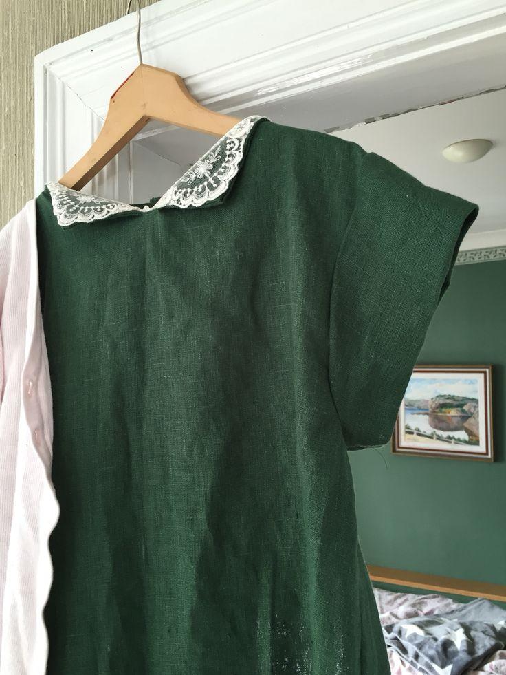 Grönt linnetyg