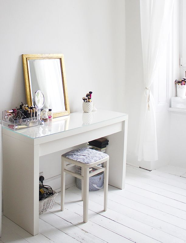 Inspiration ikea malm dressing table makeup for Ikea schreibtisch malm weiay