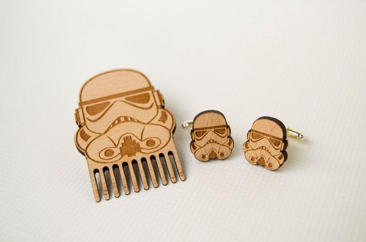 Clone Trooper beard comb and cufflinks