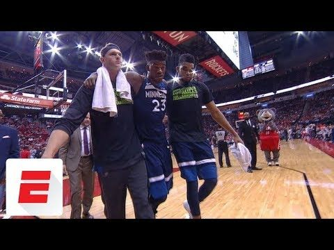 #27 ON TRENDING - Watch Nba Video Game - Jimmy Butler leaves Wolves' game with apparent knee in