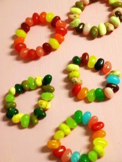 Jelly Bean Bracelets --- so cute!