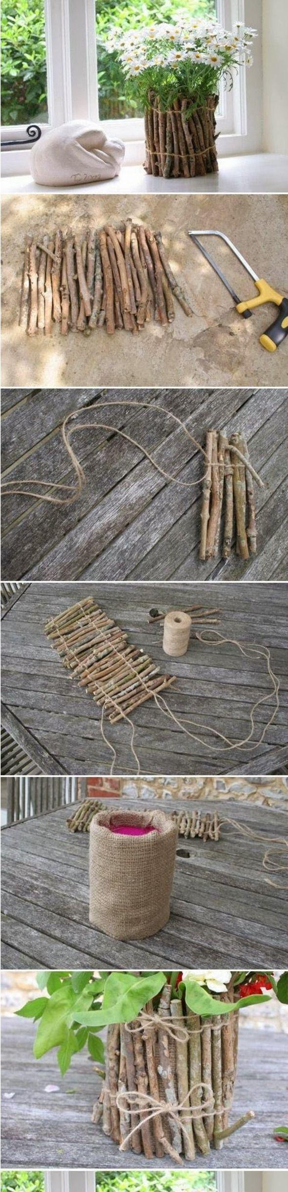 DIY : Fabriquer un cache pot avec des branchages
