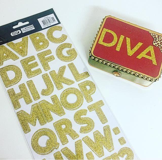 cartela adesiva alfabeto glitter