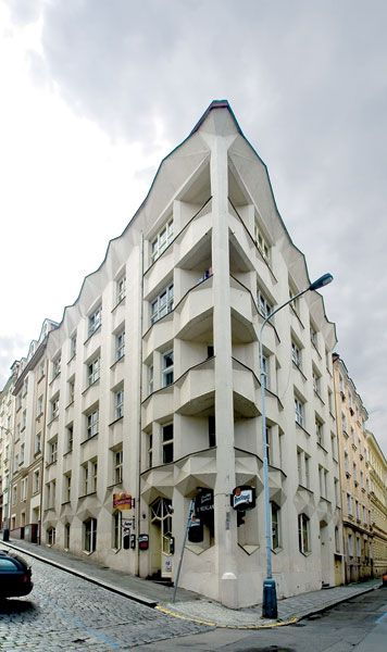 {A} cubistic house at Prague by Josef Chochol, 1913