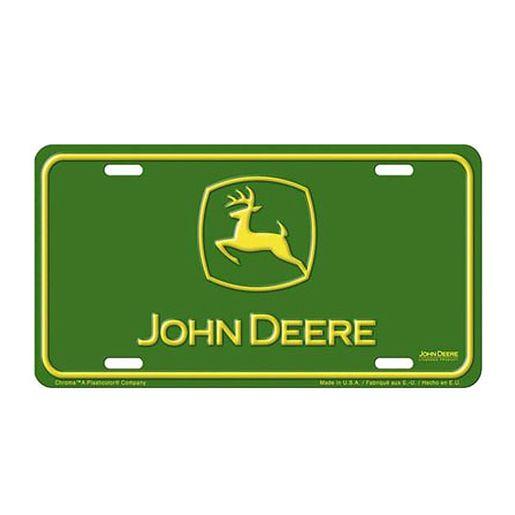 John Deere Stamped Metal Auto Tag