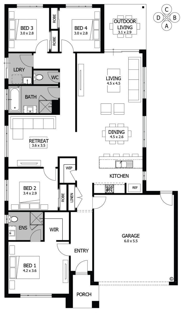 32 best House Plans images on Pinterest | House design, House floor ...