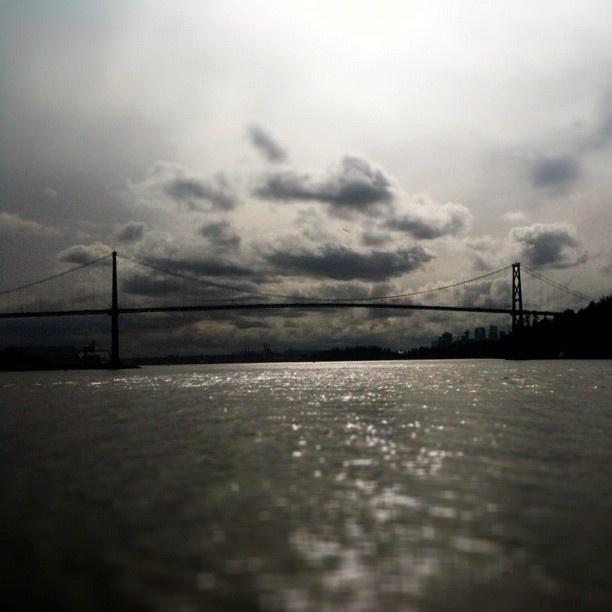 Lions Gate Bridge, Vancouver, BC  photograph by NikNaz K.   iphoneography