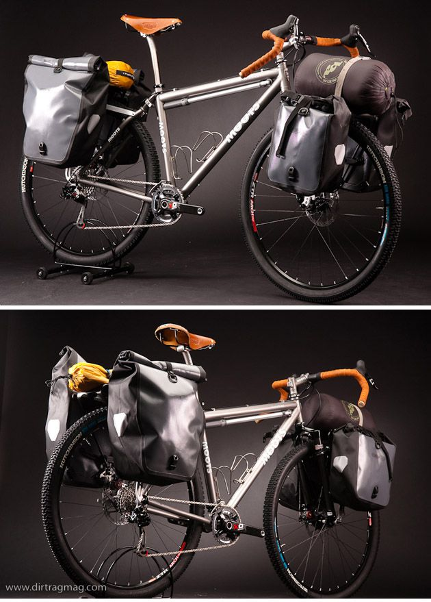 Moots Expedition Touring Bike... I dig the Ortlieb bags...Ross