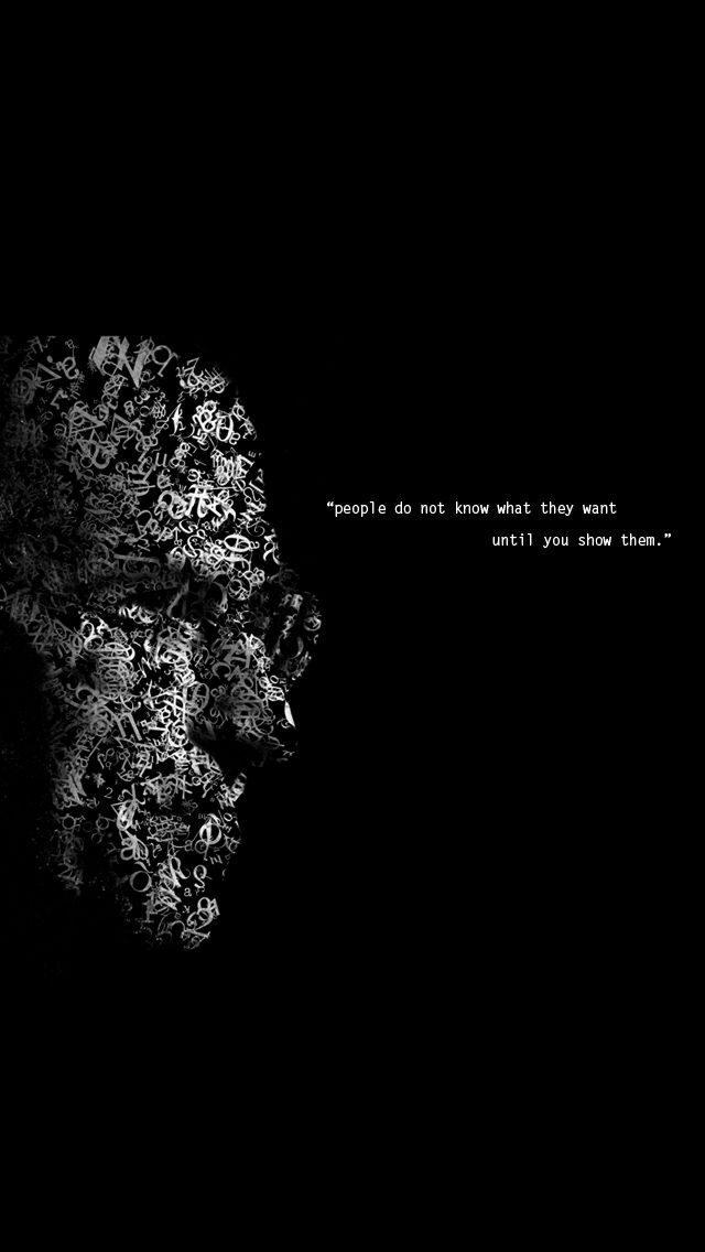 Steve Jobs quote on people's wants #iPhone #wallpaper