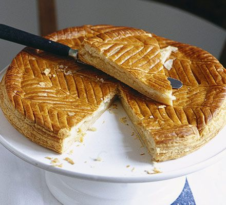 A puff pastry pie filled with frangipane, tradionally eaten on Twelfth Night, from Mary Cadogan's blog