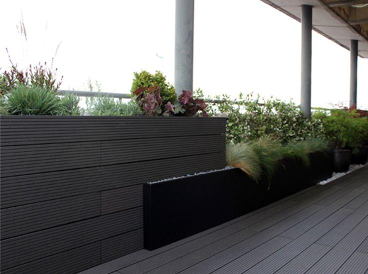 Madera tipo composite en color gris para exterior en - Diseno de terrazas aticos ...