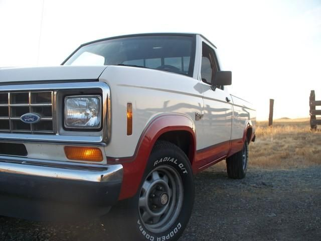 Michigan City Jeep >> 1987 Ford Ranger Regular Cab.. Digging the cream colored paint in contrast to the red fenders ...