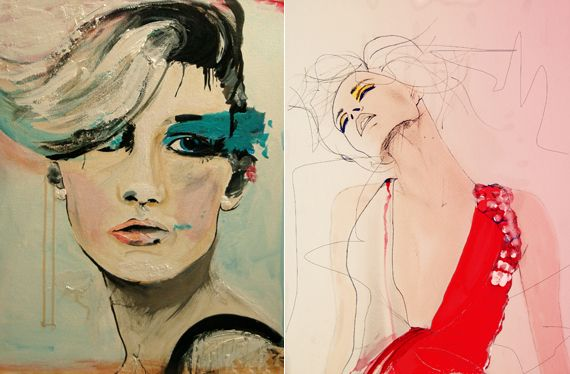 Sketches by illustrator Leigh Viner.
