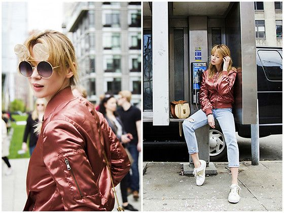 Get this look: http://lb.nu/look/8574294  More looks by Anastasiia Masiutkina: http://lb.nu/anastasiiamas  Items in this look:  Topshop Bomber, Topshop Jeans, Valentino Sneakers, Chloé Bag   #casual #sporty #street #streetstyle #eatdresstravel #anastasiiamasiutkina #fashionblogger #fashionista #renatorimach