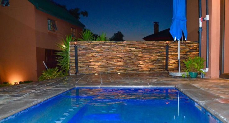 Pool and rock wall lighting