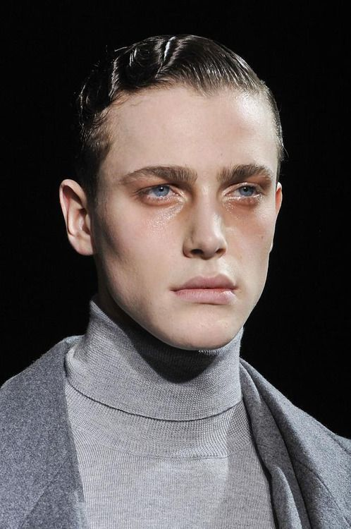 Nick Heymann | Les Hommes FW13 Loved the make-up at that show, I wish there were more close-ups.