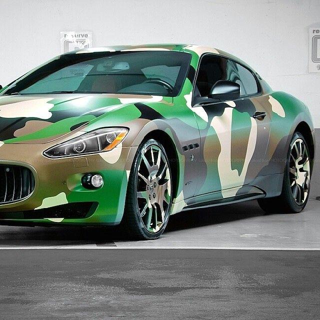 "@exotic_performance's photo: ""Hot or Not? Camo Maserati Follow @Maserati_Motorsports |Photo:LukasHron| __________________________________"""
