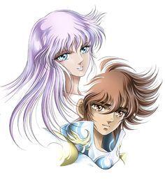 Athena & Seiya de Pegaso