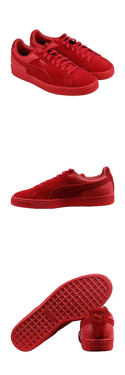 Men Shoes: Puma Suede Classic Casual Emboss Mens Red Suede Lace Up Sneakers Shoes -> BUY IT NOW ONLY: $36.99 on eBay!