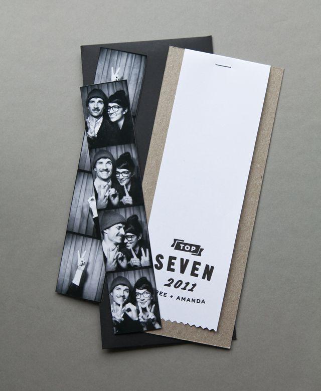 Invitación de boda con fotomatón