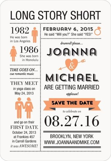 Tell a story with your save the date card.