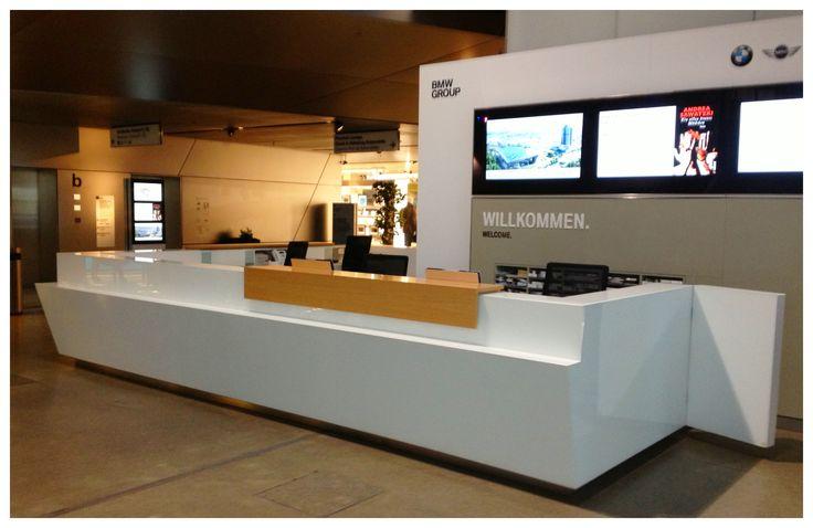 Modern Reception Desk Kbd Reception Areas Pinterest