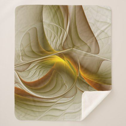 Colors of Precious Metals Abstract Fractal Art Sherpa Blanket - modern gifts cyo gift ideas personalize