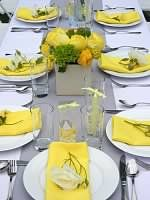 Gray and Yellow Bridal Shower <3 themarriedapp.com hearted <3