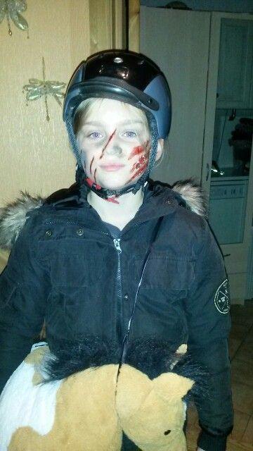 Reckless rider halloween facepainting by kerstin