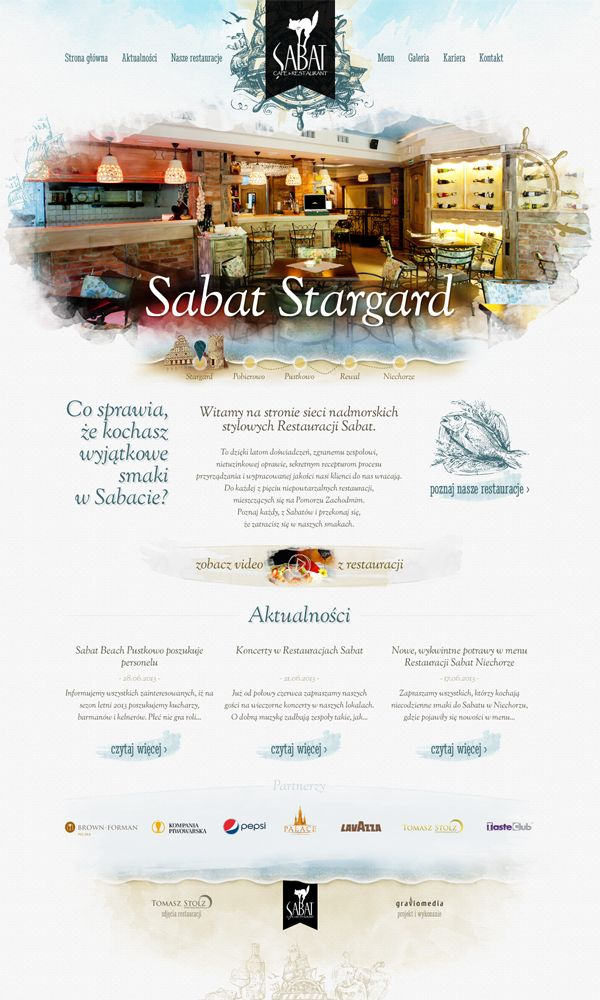 Sabat is a polish chain of stylish restaurants by the Baltic Sea, on the Rewal Coast.