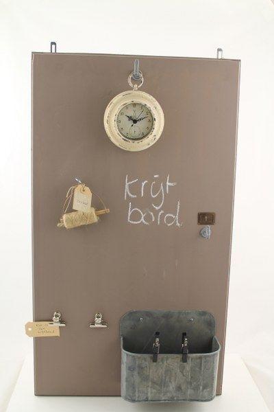 Krijtbord met mogelijkheden en klok | Eigen collectie | Tante Jo & Zo