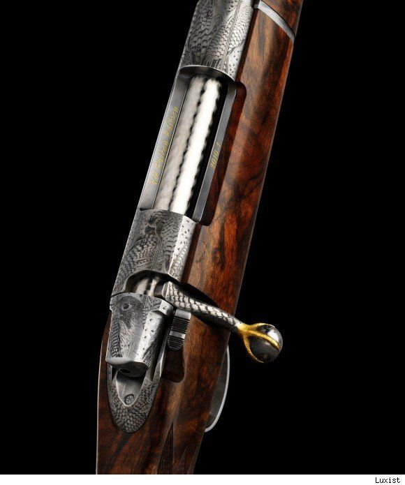 Pretty. Swedish gun and rifle maker VO Vapen, founded in 1977 by master gunsmith Viggo Olsson, fashions the world's most exclusive handmade hunting rifles. Their newest creation, the VO Falcon Edition (above), is the world's most expensive priced at about 820,000.00