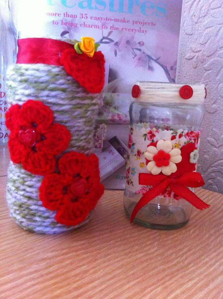 Jar decorated