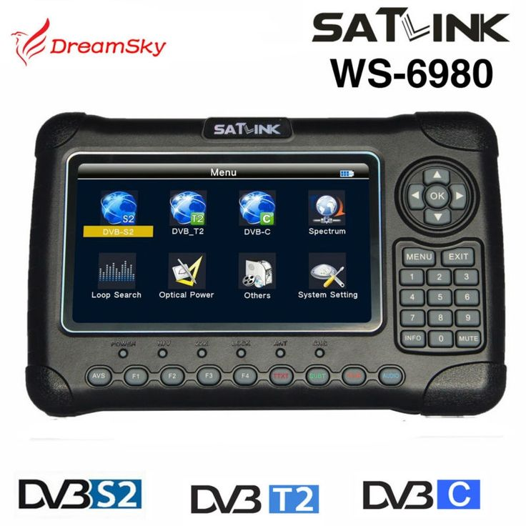 289.00$  Buy here - http://alii6c.worldwells.pw/go.php?t=32775227926 - Satlink WS-6980 7inch HD LCD Screen DVB-S2&DVB-T/T2&DVB-C WS6980 Combo Finder with Spectrum Analyzer constellation finder 289.00$