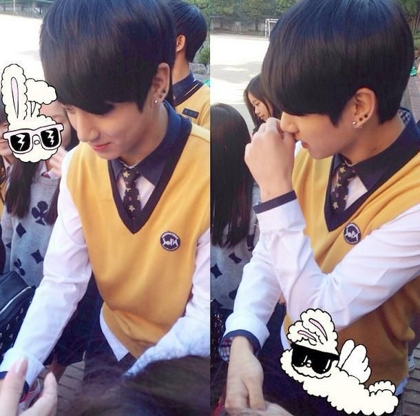 Jungkook at school