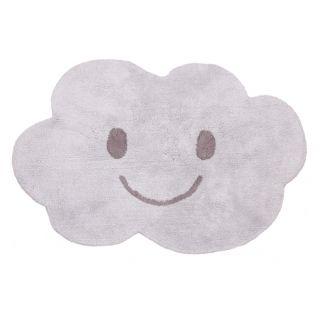 Waschbarer Kinderteppich 'Wolke Nimbus' grau 115x75cm