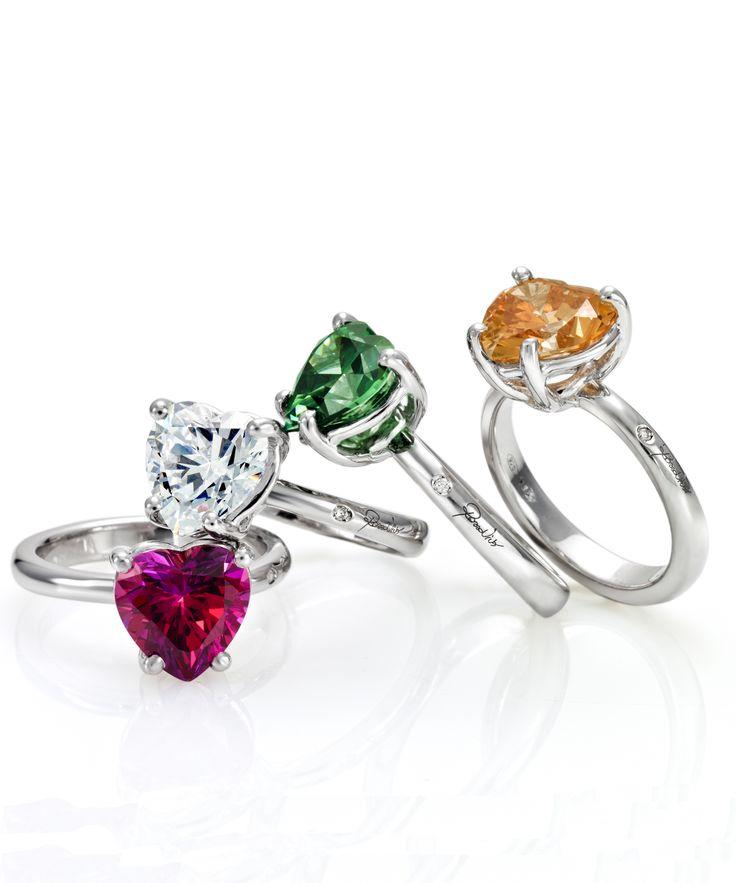 Solitario in argento pietra swarowsky e diamantino naturale incassato a mano http://www.argentoro.it/it/anelli