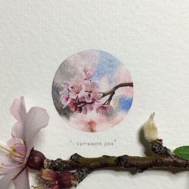 Lorraine Loots es miniaturista. No mide más que una moneda. Flores.