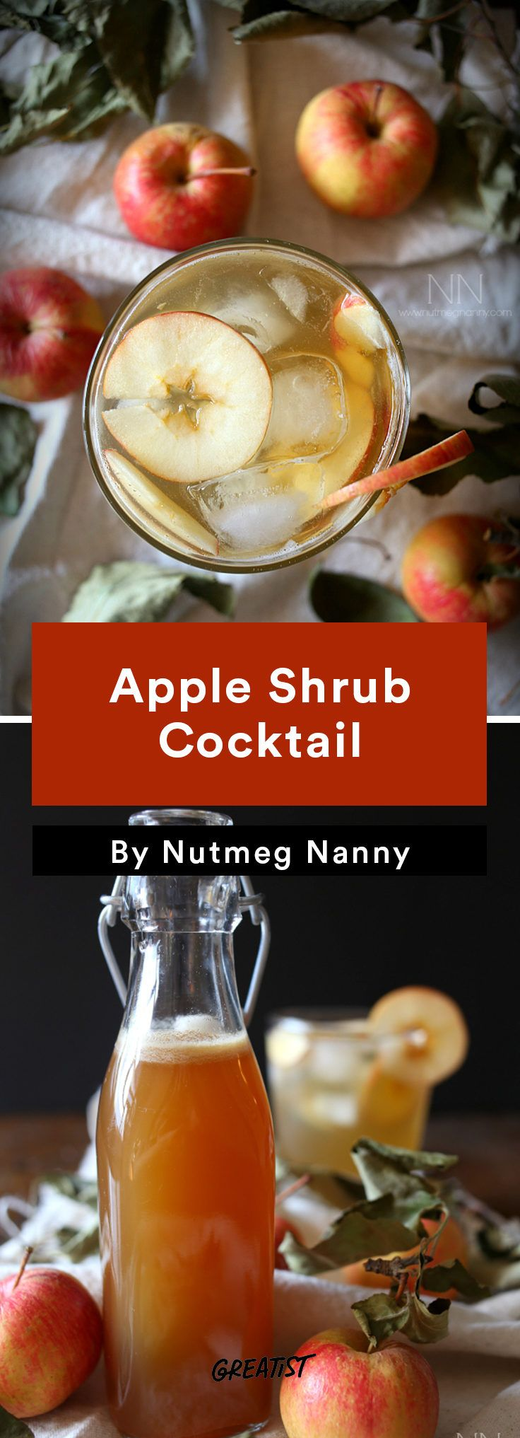 A more fun way to make use of that apple-picking haul. #apple #cocktails https://greatist.com/eat/apple-cocktail-recipes