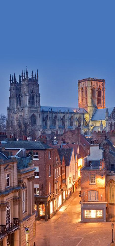 York Minster is the cathedral of York, the capital of the county Yorkshire, England. My home county.