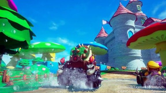 'Mario Kart' in VR looks nauseatingly fun  PROTIP: Before you watch this video mute the sound. You can thank me later. (It's a little messed up.)  Mario Kart Arcade GP VR is the absolute worst idea that I can't wait to try for myself one day. Imagine Nintendo's Mario Kart series except in virtual reality. That's what you're looking at here.  How do they keep players from yakking whenever there's a banana-induced spin-out? I hope to find out someday but it won't be soon. As cool (or as…