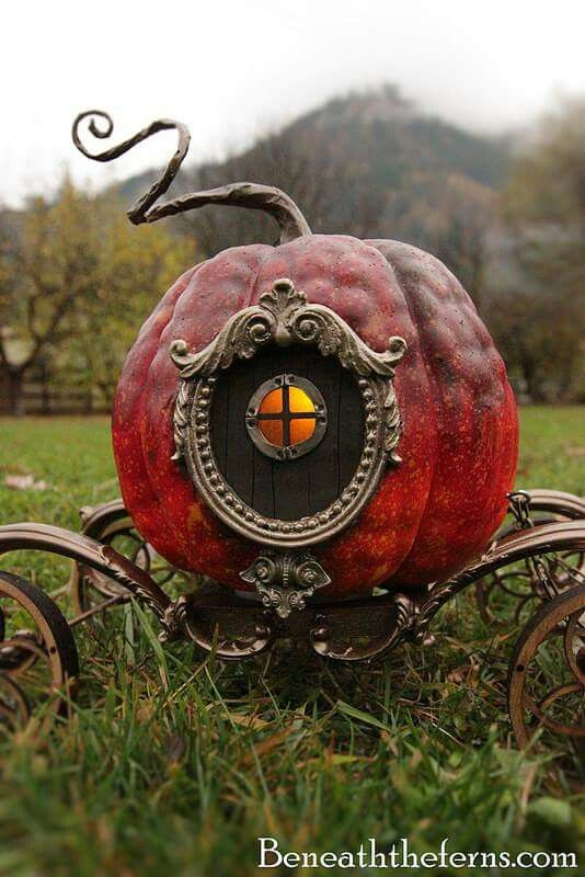 You know the story of the magic pumpkin carriage? Well, it happened. It's all true.                                                                                                                                                     More