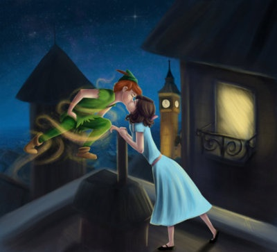 Peter Pan just goes around kissing all the girls...;P ...