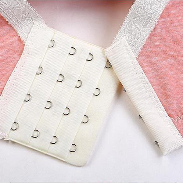 Deep Plunge Embroidery Anti-sagging Gather Cotton Nursing Bra