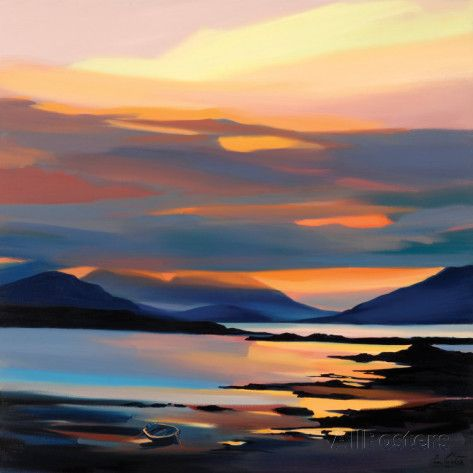 RED ON THE CUILLIN Collectable Print by Pam Carter - AllPosters.co.uk