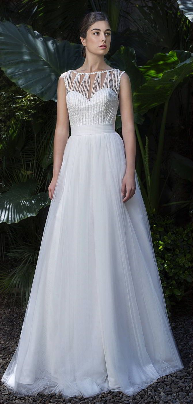 14593 best wedding dresses inspiration images on pinterest for Around the neck wedding dresses