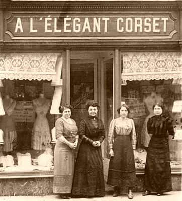 "A corset shop. Great Aunt Mary owned ""Elizabeth's corset shop"""